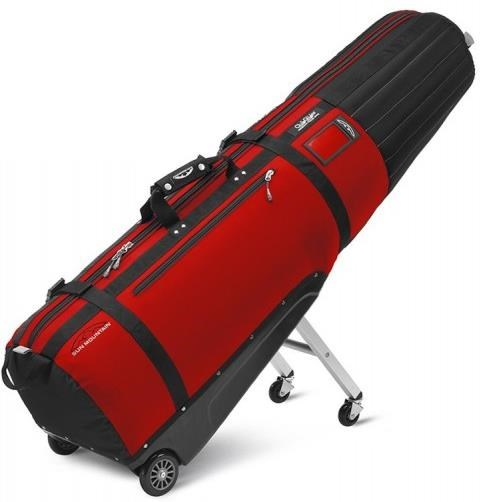 Sun Mountain Club Glider Meridian Wheeled Travelcover, schwarz/rot