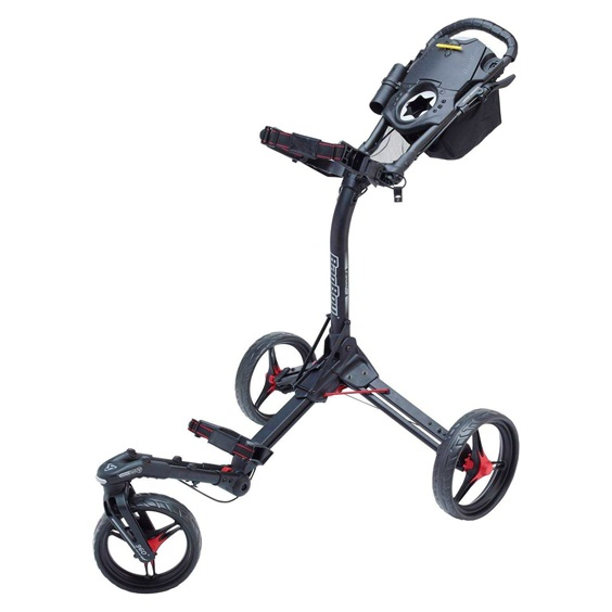 Bag Boy Tri Swivel 2.0 Golf Trolley, schwarz/rot