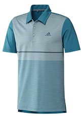 Adidas Ultimate365 Colour Blocked Mens Polo 2019, Active Teal Blue/Grey, L