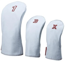 Big Max Headcover Set 1-3-X, weiss/rot