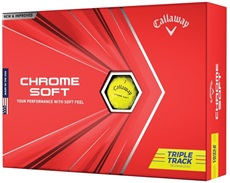 Callaway Chrome Soft Triple Track Yellow Golfbälle