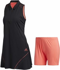 Adidas Perforated Color Pop Golfkleid, schwarz