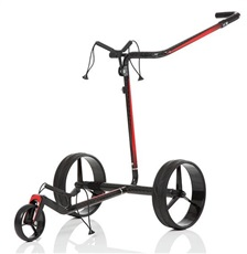 JuCad Carbon Travel 2.0 Elektrotrolley, schwarz/rot