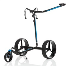 JuCad Carbon Travel 2.0 Elektrotrolley, schwarz/blau