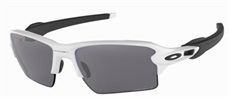 Oakley Flak 2.0 XL PRIZM Black Polarized Sonnenbrille, Polish White