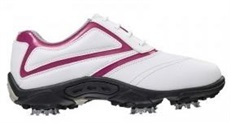 FootJoy Junior shoes, white/red