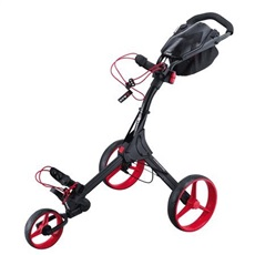 Big Max IQ+ Dreirad Golf Trolley, schwarz/rot