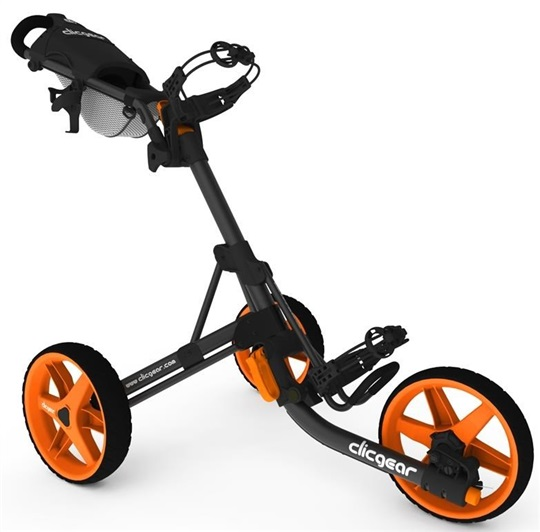 Clicgear 3.5+ Golf Trolley, schwarz/orange
