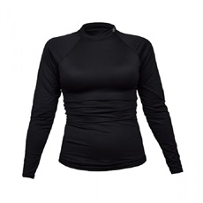 Tony Trevis Damen Thermo Shirt, schwarz