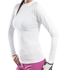 Tony Trevis Damen Thermo Shirt, weiss