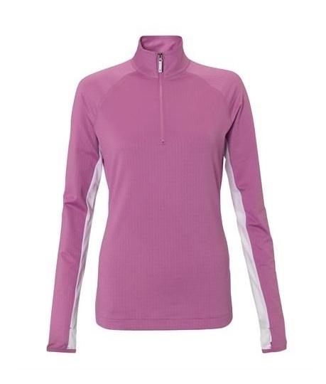 check out 6c55d cb0c2 Callaway UV Zip Mock Damen Pulli - rosa