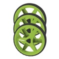 Clicgear Wheel Kit, 3 wheels, lime