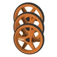 Clicgear Wheel Kit, 3 wheels, orange