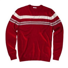 AUR Chest Stripe Herren Pullover - rot