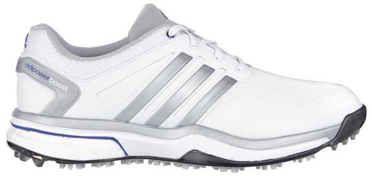 592ace72a8857 Adidas adipower Boost Damen Schuhe, weiss/grau/violett | GolfBrothers.de