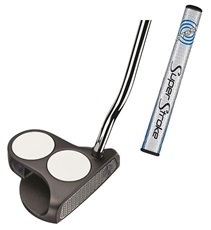 Odyssey Works SS 2Ball Putter 2015 + SuperStroke Grip, Headcover