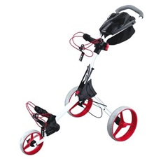 Big Max IQ+ Golftrolley, weiss/rot