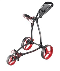 Big Max Blade+ Dreirad Golf Trolley, schwarz/rot