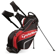 TaylorMade Pro Stand 4.0 Bag, schwarz/weiss/rot