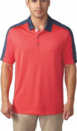 Rabatt Adidas Climacool Herren Poloshirt, rotblau  liefert