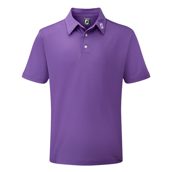 FootJoy Stretch Pique Solid herren polo, lila