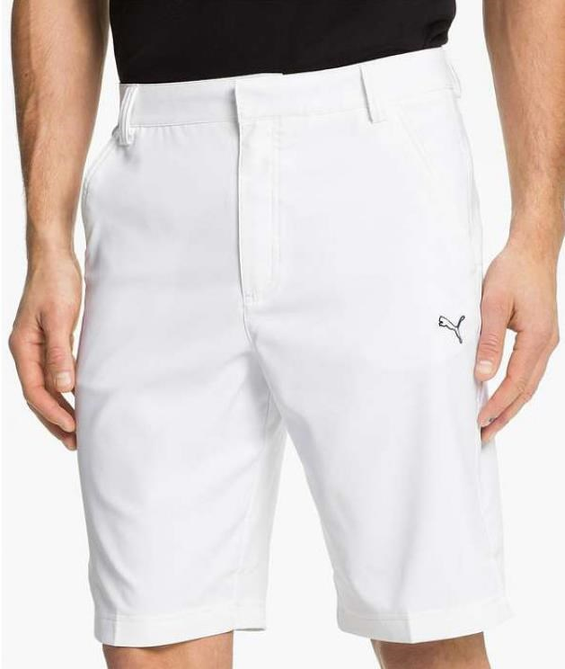 Puma Golf Tech Herren Shorts, Weiss