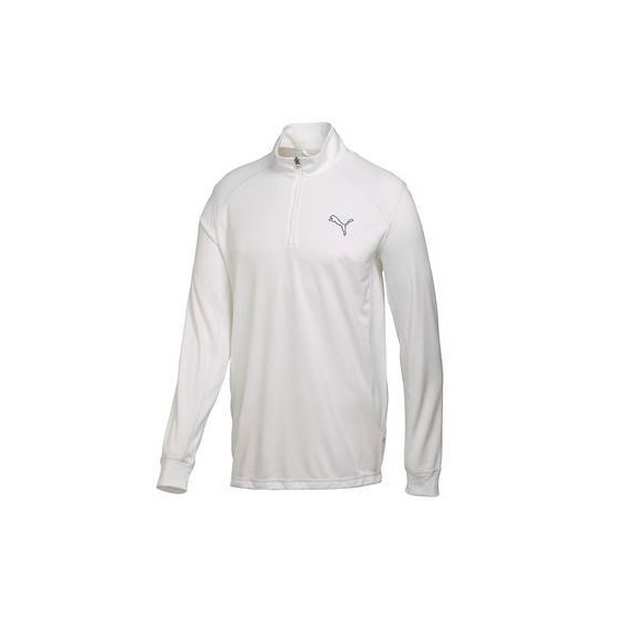 Puma Golf LS 1/4 Zip Junior Top Sweatshirt, Weiss