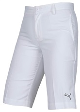 Puma Golf Tech Junior Golf Shorts, weiss