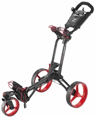 Big Max Z 360 Golf Trolley, schwarz/rot