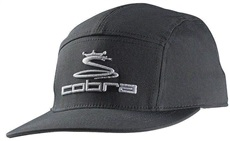 Cobra Tour 5 Panel Golf Cap, grau