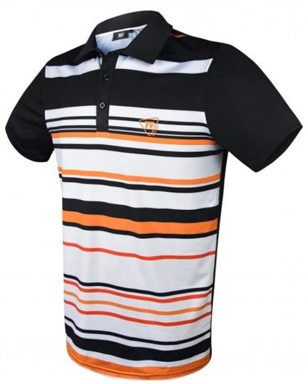 online store 22723 4bb09 Tony Trevis Herren Poloshirt, schwarz/orange/weiss