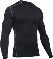 Under Armour ColdGear Herren Thermo Shirt, schwarz