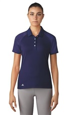 Adidas Core Hybrid Cotton Damen Golf Polo, blau