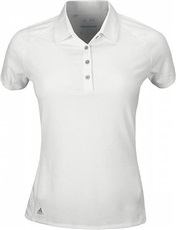 Adidas Core Hybrid Cotton Damen Golf Polo, weiss