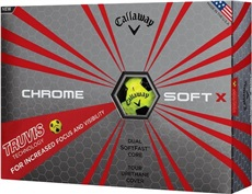 Callaway Chrome Soft X Truvis Yellow Golfbälle