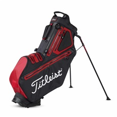 Titleist Players 5 StaDry Stand Bag, schwarz/rot