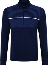 Callaway Chest Striped 1/4 Zip Herren Pullover, blau