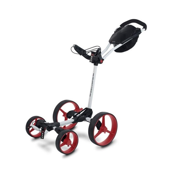 Big Max Blade Quattro Golf Trolley, weiss/rot