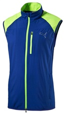 Puma Golf Wind Herren Stretchweste, blau/grün