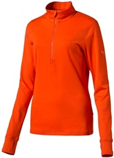 Puma Tech 1/4 Zip Popover Damen Pullover, orange