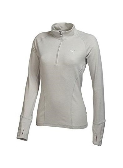 buy online 091aa 824bf Puma Tech 1/4 Zip Popover Damen Pullover, grau