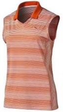 Puma Dense Stripe Damen Polo, orange
