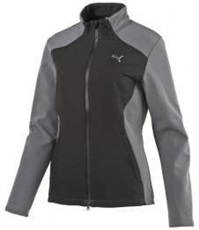 Puma Golf Warm Stretch FZ Damen Sportjacke, schwarz