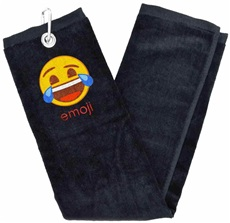 Emoji Trifold Laughing Golfhandtuch