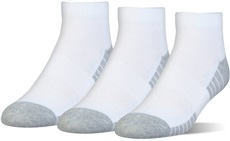 Under Armour Mens HeatGear Tech Low Cut 3Pack Herren Socken, weiss