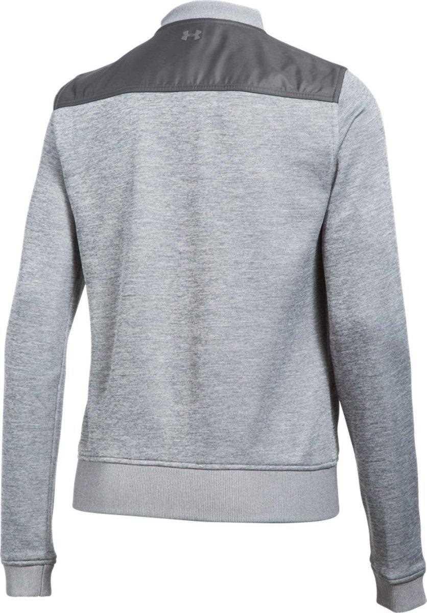 under armour storm sweaterfleece damen pullover grau. Black Bedroom Furniture Sets. Home Design Ideas