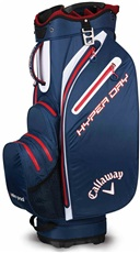 Callaway Hyper Dry waterproof Cart Bag, blau/weiss/rot