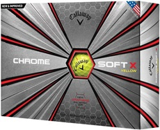 Callaway Chrome Soft X Yellow Golfbälle 2018