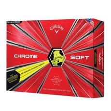 Callaway Chrome Soft Truvis Yellow Golfbälle