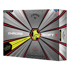 Callaway Chrome Soft X Truvis Yellow/Black Golfbälle
